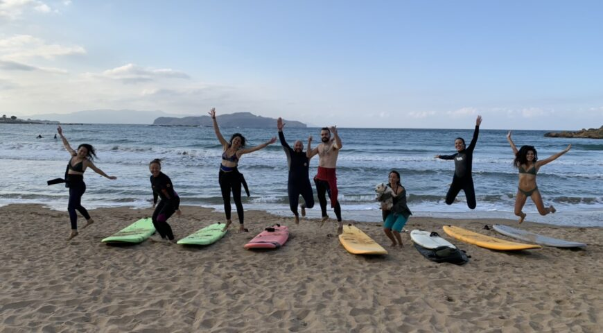 Surf in Crete-surf lessons