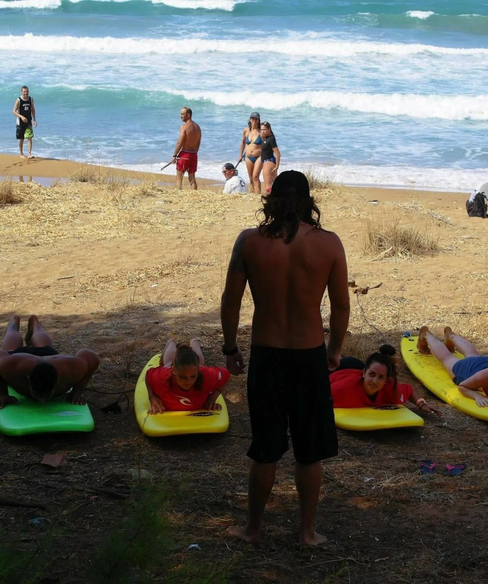 surfing crete-surf lessons