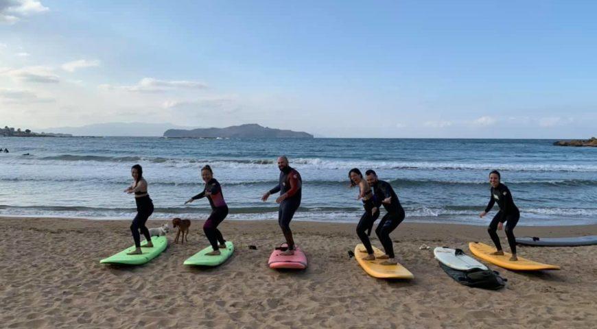 Surf lessons in Crete