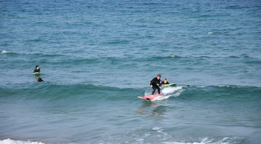 surfing Crete-Stalos beach