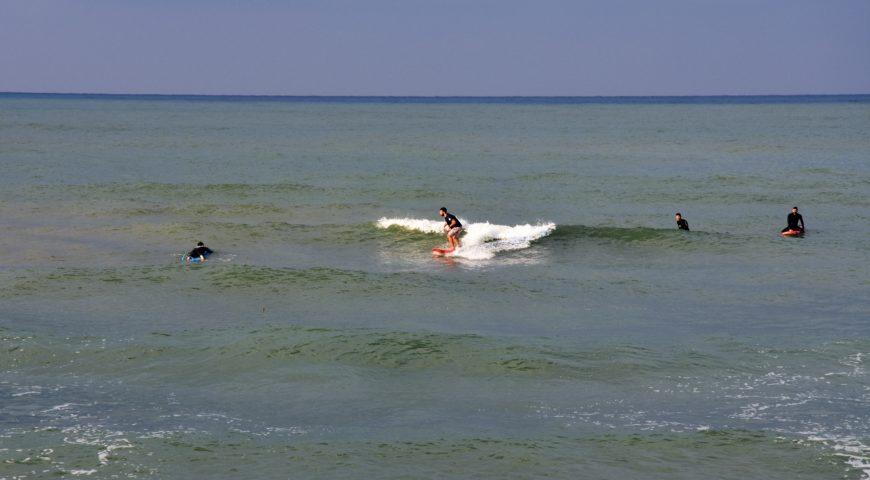 Surfing Crete-Stalos