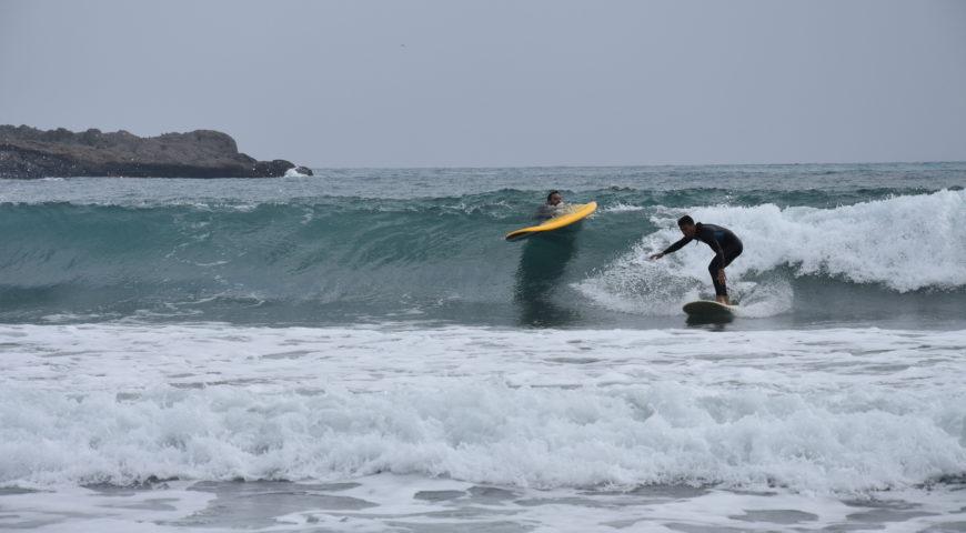 surf school in crete