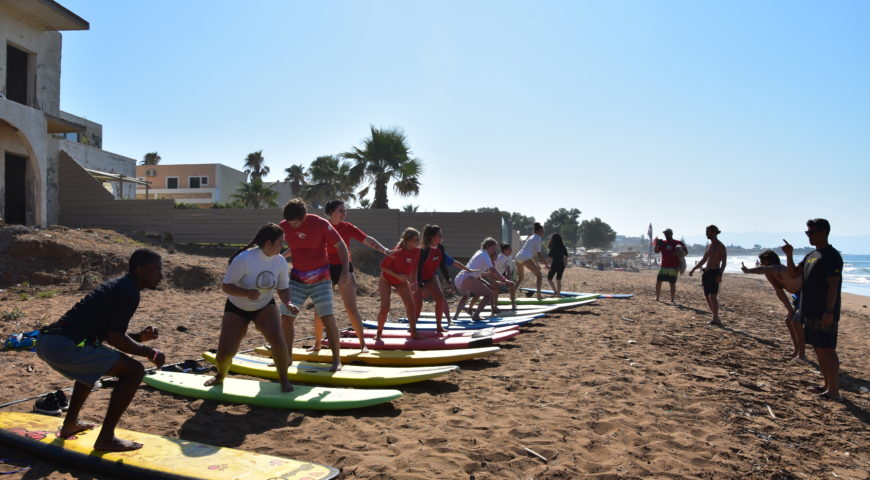 SUrf school chania